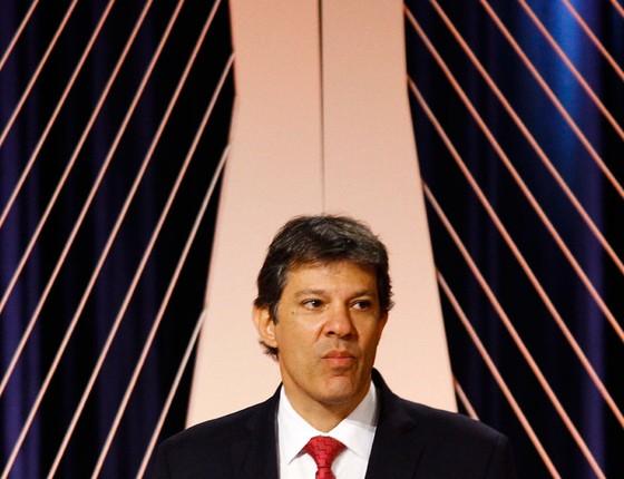O candidato a reeleição a prefeitura de São Paulo Fernando Haddad (Foto:  Aloisio Mauricio / Fotoarena)