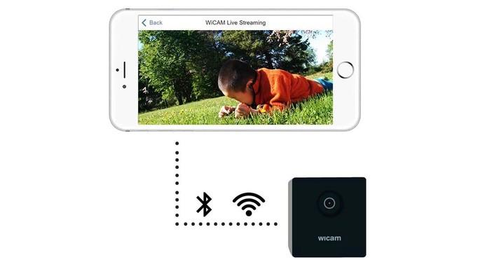 WiCAM pode ser conectada com celulares e computadores (Foto: Divulgação/Kickstarter)