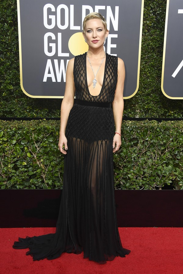 BEVERLY HILLS, CA - JANUARY 07:  Kate Hudson attends The 75th Annual Golden Globe Awards at The Beverly Hilton Hotel on January 7, 2018 in Beverly Hills, California.  (Photo by Frazer Harrison/Getty Images) (Foto: Getty Images)