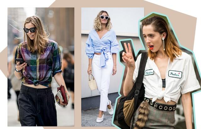 Use a camisa com um nó na frente (Foto: Arte Vogue Online)