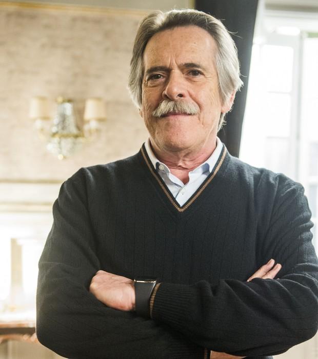 """José de Abreu na pele do Gibson de 'A Regra do Jogo': """" (Foto: João Miguel Junior/ TV Globo)"""