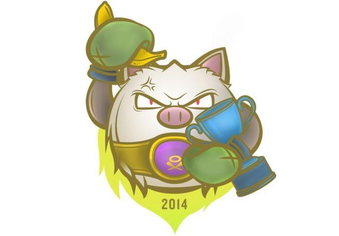 Logotipo do Banana Meteor após ganhar a Copa do Mundo 2014 de Pokémon (Foto: Divulgação)