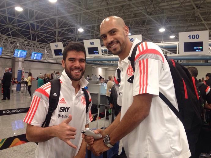 Flamengo basquete embarque estados unidos Marquinhos (Foto: Divulgação / Flamengo)