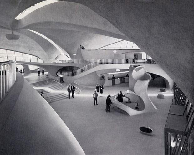 TWA Flight Center (TWA Centro de Vôo), Nova York, 1962, assinado por Eero Saarinen (Foto: Divulgação)