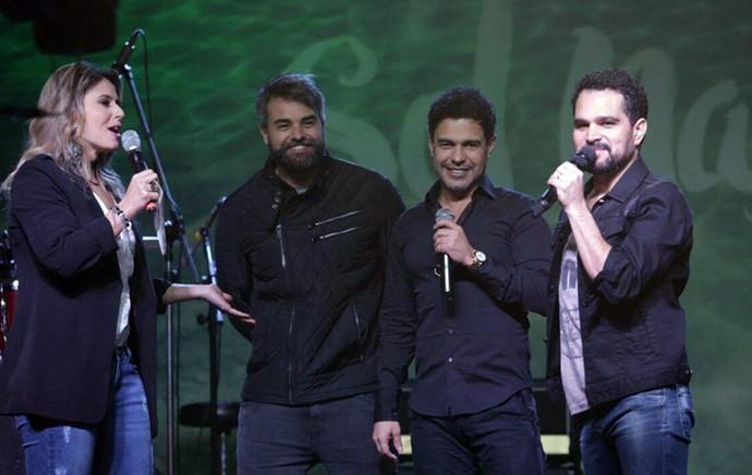 Zezé di Camargo & Luciano elogiaram a atuação de Márcio Kieling no filme Dois Filhos de Francisco (Foto: Luiz Renato Correa/RPC)