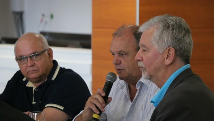 Presidentes confirmaram setor de torcida mista (Foto: Eduardo Deconto/Globoesporte.com)