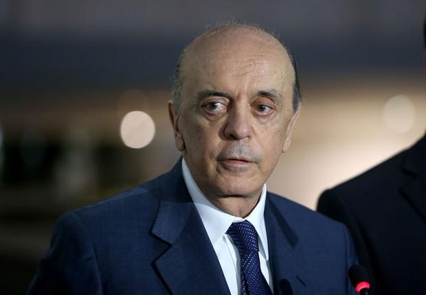 O ministro das Relações Exteriores, José Serra (Foto: Wilson Dias/Agência Brasil)