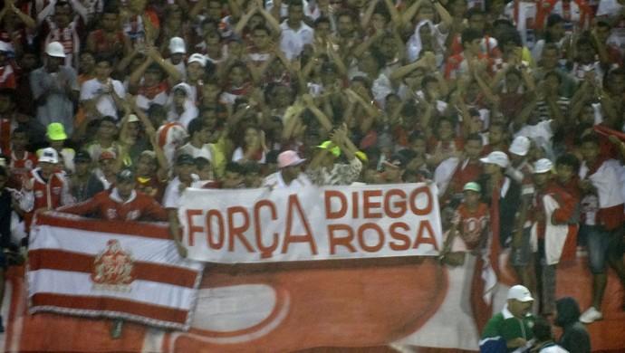 Torcida apoio Diego Rosa CRB (Foto: Viviane Leão/GloboEsporte.com)