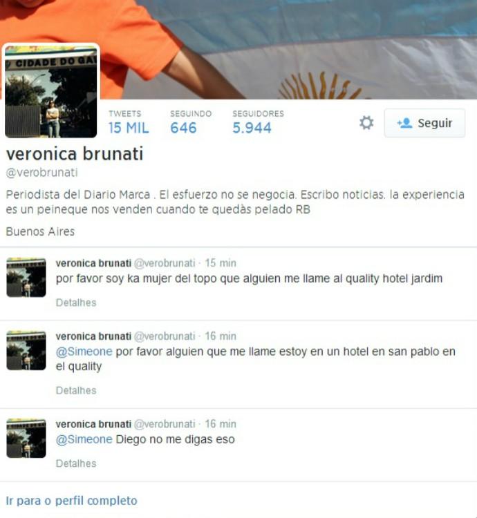 """A esposa de Jorge """"Topo"""" López ficou sabendo da morte do jornalista por meio do Twitter (Foto: Reprodução / Twitter )"""