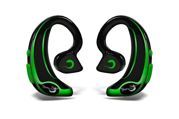 Além de fone de ouvido, FreeWavz ainda possui sensor de batimento cardíaco (Foto: Divulgação/FreeWavz)