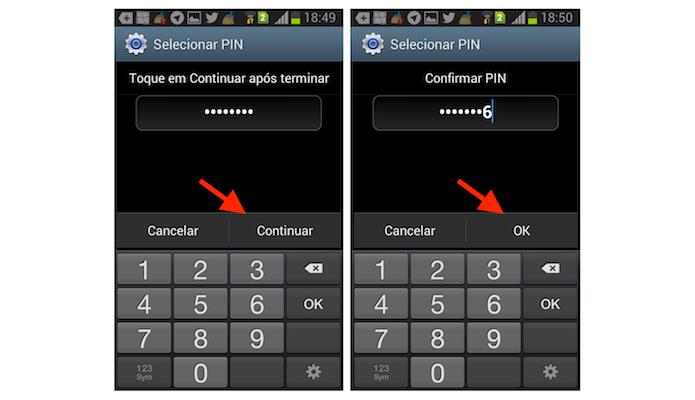 Configurando uma senha de bloqueio de tela para o Galaxy Gran Duos (Foto: Reprodução/Marvin Costa)