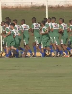 Treino do Rolim de Moura para o Campeonato Rondoniense (Foto: Reprodução/ TV Rondônia)