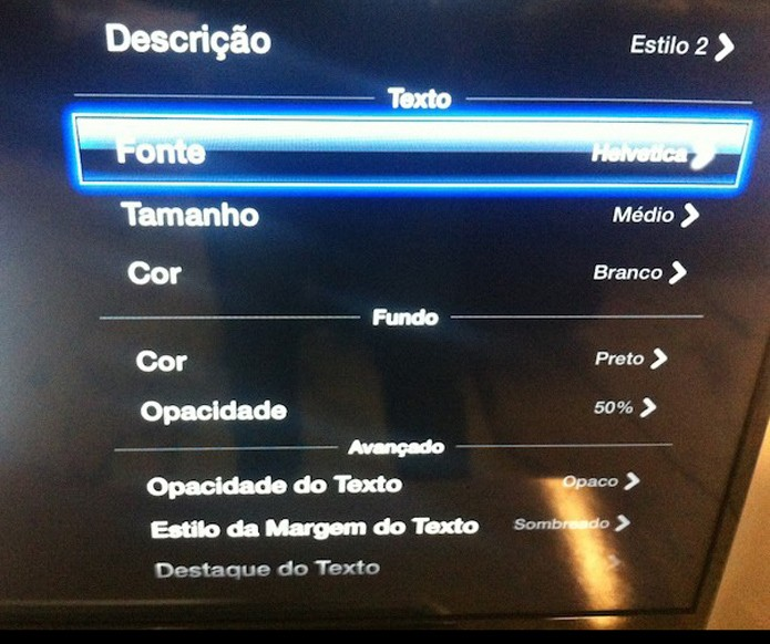 Editando todas as características das legendas utilizadas pela Apple TV  (Foto: Reprodução/Marvin Costa)