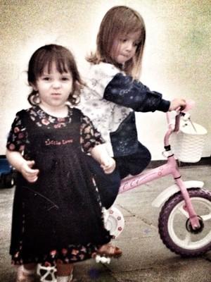 Paixão pela bicicleta começou cedo na vida de Priscilla (Foto: Arquivo Pessoal/Priscilla Stevaux)