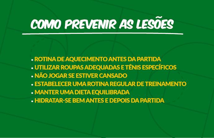 Basquete Inspira SC - Como prevenir lesões do basquete (Foto: Federação Catarinense de Basketball, Divulgação)