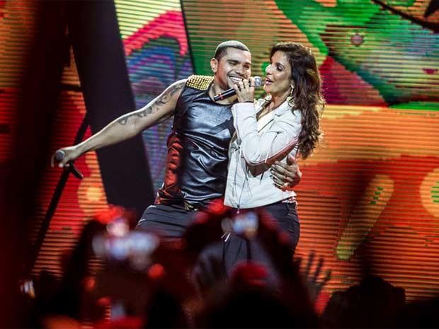 O show teve participações especiais, como a de Ivete Sangalo. (Foto: Raul Zito / G1)