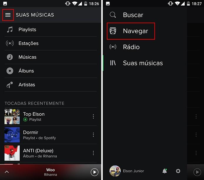 Spotify permite encontrar shows no Android e iPhone facilmente (Foto: Reprodução/Elson de Souza)
