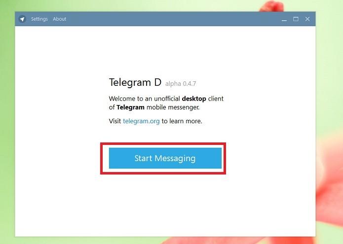 Clique em Start Messaging (Reprodução/Taysa Coelho)