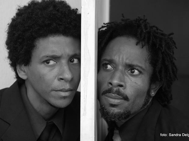 """Aldri Anunciação e Flávio Bauraqui em """"Namíbia, não!""""  (Foto: Sandra Delgado)"""