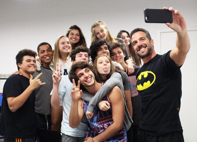 Olha a selfie!!! (Foto: Letícia Souza/Gshow)