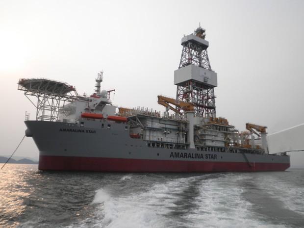 O navio-sonda Amaralina Star (Foto: Divulga��o/QGOG/FSB)
