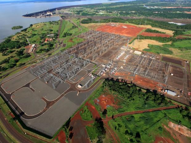 Energia produzida percorrerá 350 km desde a subestação de Itaipu até a de Villa Hayes, vizinha a Assunção (Foto: Billy Valtemir de Souza / Itaipu Binacional)