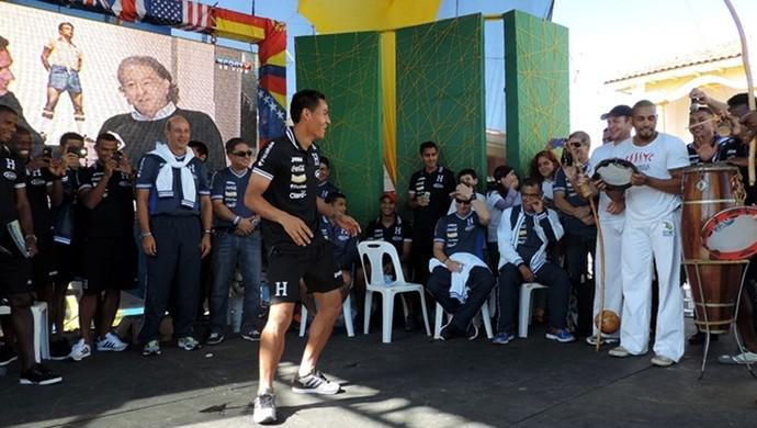 seleção Honduras  (Foto: Marcelo Hazan)