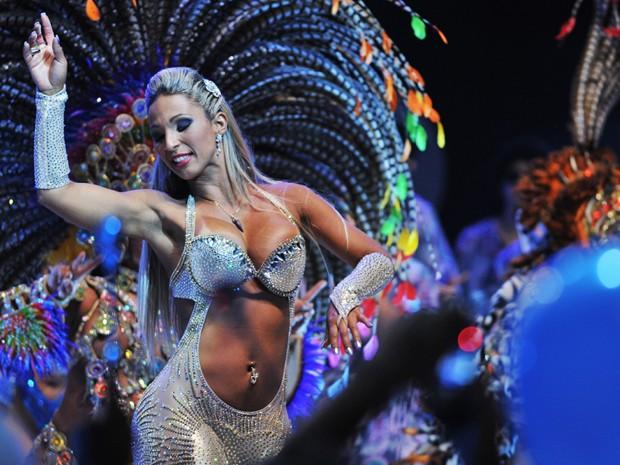 Rainha da Águia de Ouro, Valesca Popozuda diz que irá desfilar com fantasia curta (Foto: Raul Zito/G1)