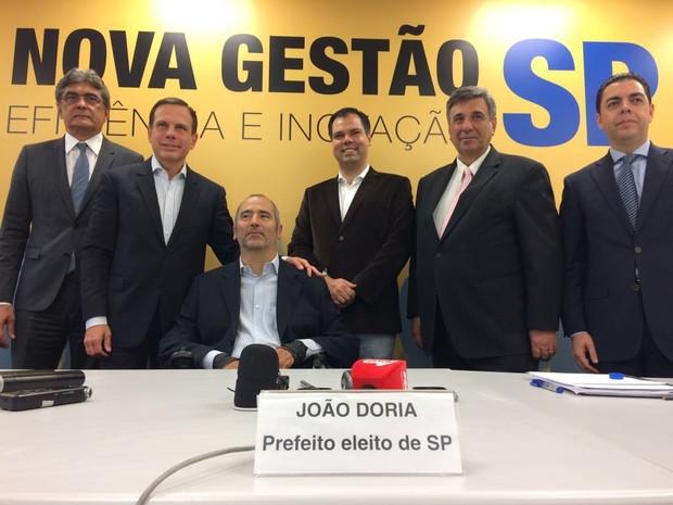 João Doria anunciou primeiros secretários nesta quinta-feira em auditório no Centro de São Paulo (Foto: Will Soares/G1)