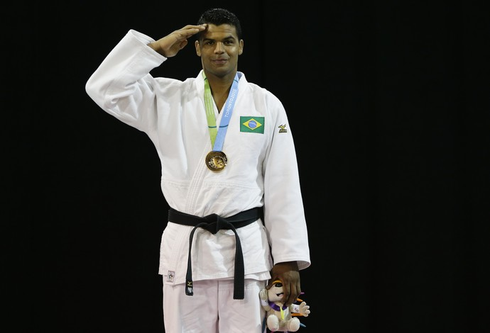 Luciano Corrêa ouro Brasil judô Pan (Foto: AP)