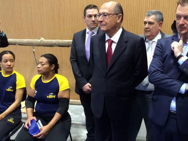 O governador de São Paulo, Geraldo Alckmin, participa de inauguração do Centro de Esportes Paralímpicos em São Paulo (Foto: Tatiana Santiago/G1)