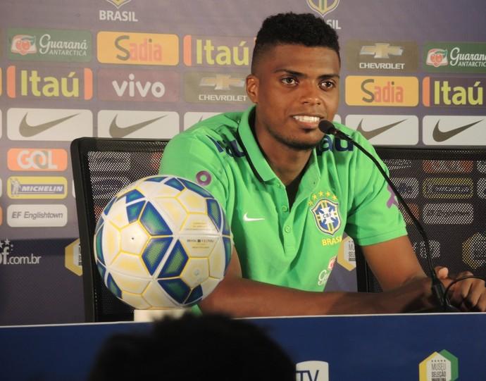 Jemerson Coletiva Seleção brasileira (Foto: Alexandre Lozetti / GloboEsporte.com)