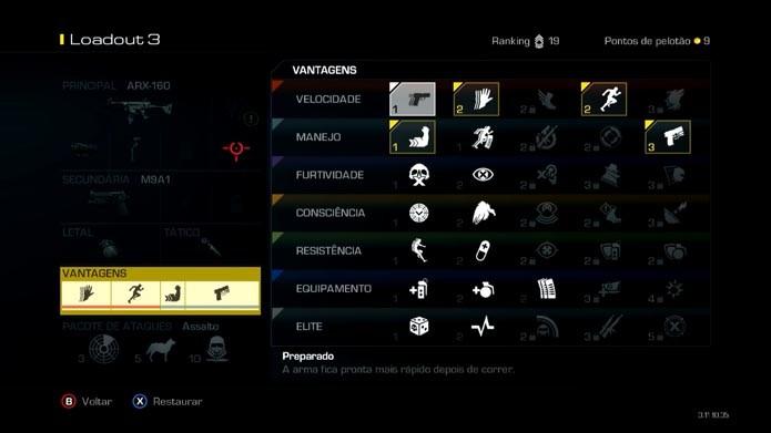Captura de Tela 2014-05-26 às 12.09.34Call of Duty Ghosts: como criar e editar classes no game (Foto: Reprodução/Murilo Molina)