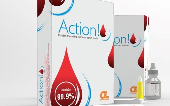O kit para fazer o teste de HIV em casa, vendido pela empresa OrangeLife no Brasil (Foto: Divulgação)
