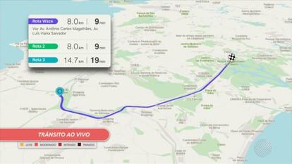 Confira os pontos de lentidão no trânsito pelo Mapa da Velocidade