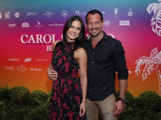 Kyra Gracie e Malvino Salvador em festa na Zona Sul do Rio (Foto: Thyago Andrade e Marcos Ferreira/ Brazil News)