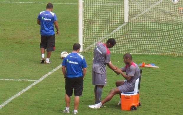 Dedé e Renato Silva Vasco (Foto: André Casado / Globoesporte.com)