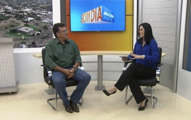 Presidente da Femahr explica como será a programação do evento (Foto: Bom Dia Amazônia)