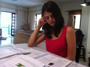 Estudante afirma que objetivo inicial era adquirir experiência com Enem no RN (Foto: Felipe Gibson/G1)