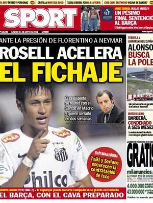 Capa Sport Neymar (Foto: Reprodução / Twitter)