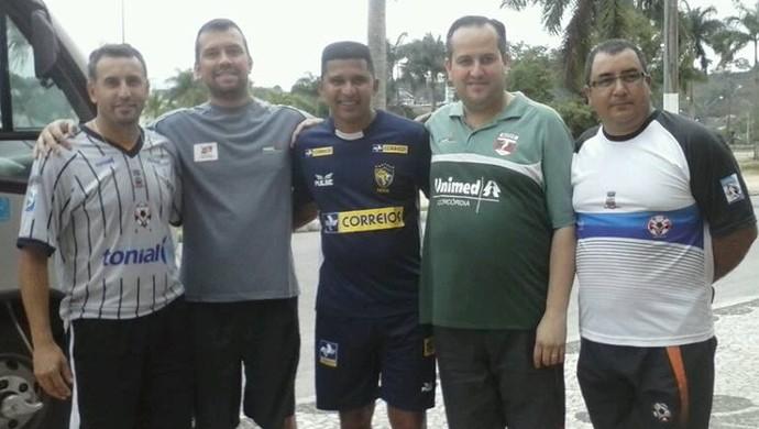 Odair de Paula gringo tapejara adergs João Carlos Lemes futebol feminino (Foto: Reprodução / Facebook)