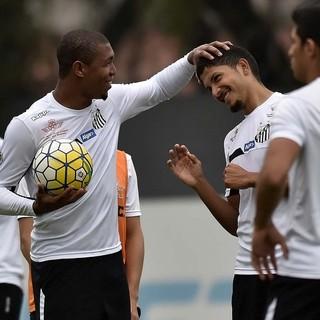 Rodrigão e Yuri, Santos (Foto: Ivan Storti/Santos FC)