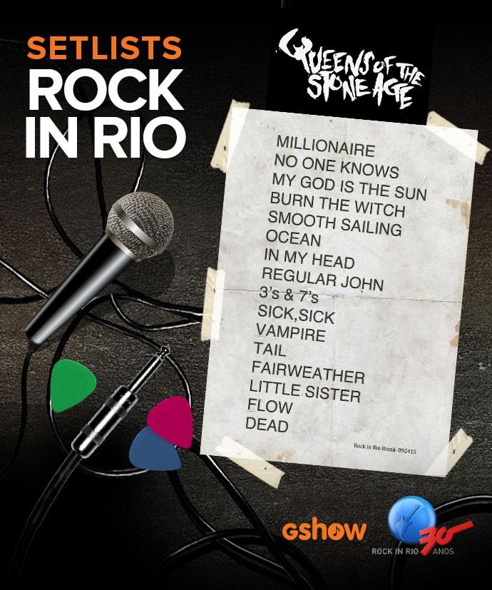 Setlist da banda Queens Of The Stone Age no Rock in Rio  (Foto: Gshow)