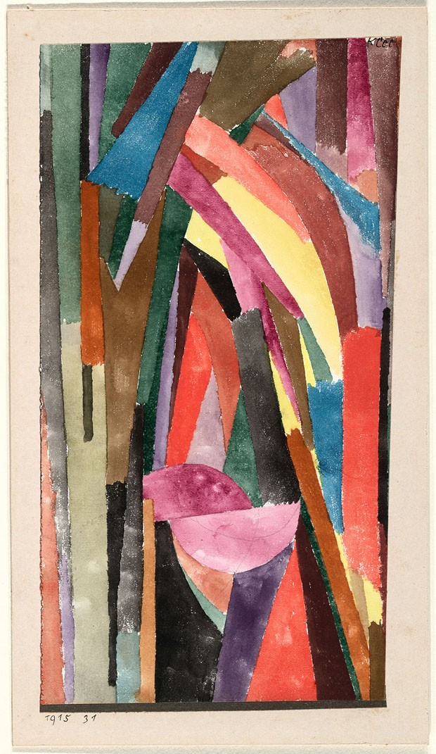 Klee, Paul (1879-1940): Laughing Gothic (Lachende Gotik), 1915. New York, Museum of Modern Art (MoMA) Watercolor and metallic painted paper on paper on cardboard, 11 3/8 x 6 1/2 (28.9 x 16.5 cm). Purchase. Acc. n.: 91.1950.*** Permission for usage must be (Foto: Scala)