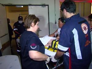 Menino foi transferido pelo Samu de Itapira para Hospital de Clínicas de Campinas (Foto: Victor Freitas/ EPTV)