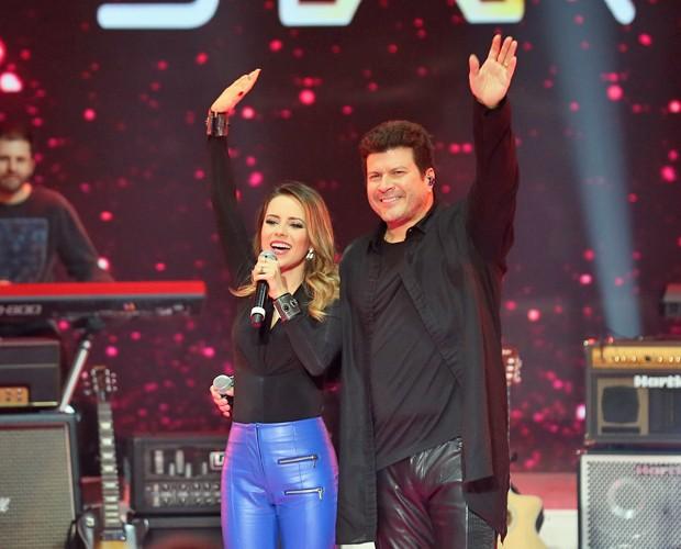 Paulo Ricardo e Sandy cantam juntos no SuperFiltro (Foto: Isabella Pinheiro/ Gshow)