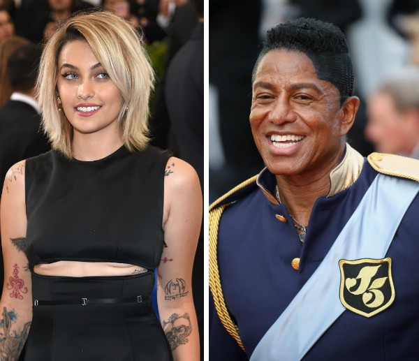 Paris Jackson e o tio, Jermaine Jackson (Foto: Getty Images)