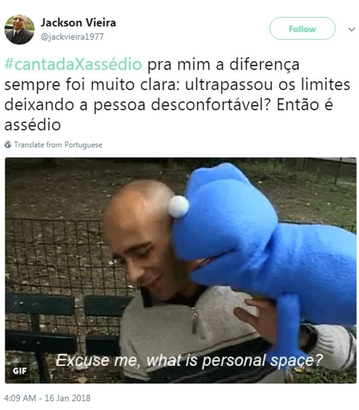Cantada x Assédio (Foto: Reprodução/Twitter)