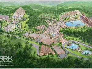 "Projeto do parque temático ""Ark Encounter"", que quer reconstruir a Arca de Noé nos EUA (Foto: REUTERS/Answers in Genesis)"