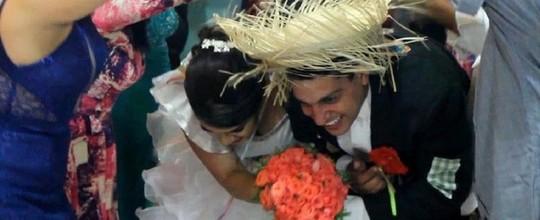 Noivos fazem festa de casamento junina em Caruaru (Amanda Sales/Arquivo Pessoal)
